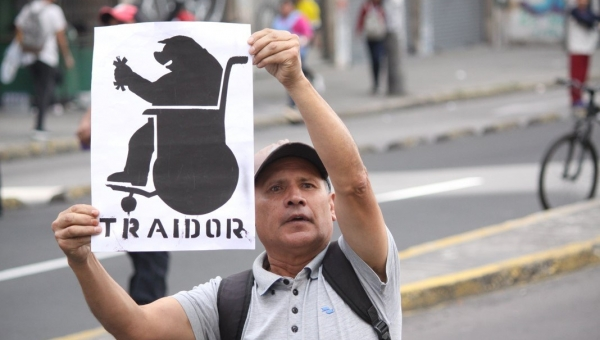 Foto: Demonstrasjoner mot Lenin Moreno, oktober 2019. Octavio Pedicino.